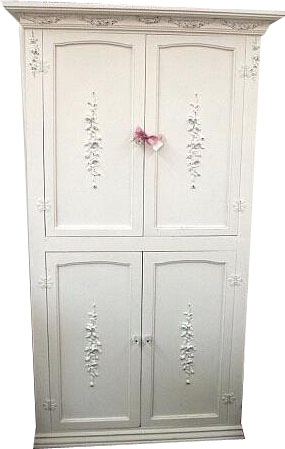 Shabby Cottage Chic 6ft Four Door Armoire - Item# BC-AR-1004.00